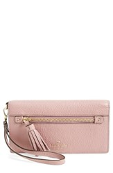 Kate Spade Women's New York 'Spencer Court Rae' Leather Wristlet Wallet Pink Dusty Peony