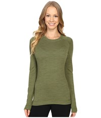 Smartwool Nts Mid 250 Crew Top Light Loden Heather Women's Long Sleeve Pullover Green