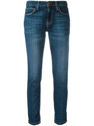Current Elliott Straight Cropped Jeans Blue