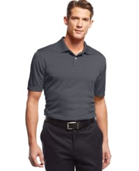 John Ashford Short Sleeve Solid Textured Performance Polo Nine Iron