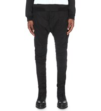 Julius Dropped Crotch Stretch Denim Jeans Black