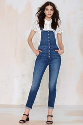 Nasty Gal 7 For All Mankind Janette Tapered Overalls