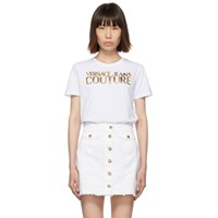 Versace Jeans Couture White Logo T Shirt