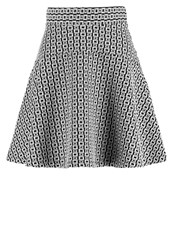 Anna Field Mini Skirt Black Offwhite Off White