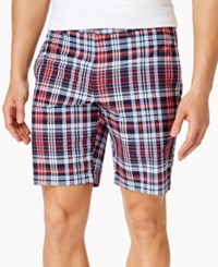 Club Room Big And Tall Plaid Shorts Only At Macy's Navy Blue