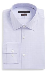 John Varvatos Men's Big And Tall Star Usa Regular Fit Stretch Check Dress Shirt Thistle