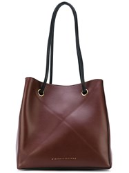 Victoria Beckham Box Hobo Tote Women Calf Leather One Size Brown