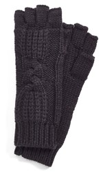 Women's Ugg Australia 'Isla' Metallic Knit Fingerless Gloves Black Black Multi
