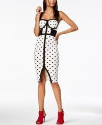 Material Girl Juniors' Printed Illusion Midi Dress Created For Macy's Cloud Dancer Combo