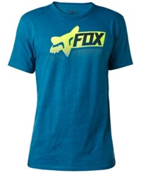 Fox Men's Processed Cotton Graphic Print Logo T Shirt Blue