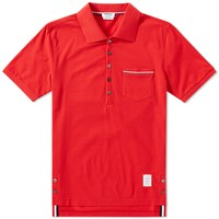 Thom Browne Mercerised Pique Pocket Polo Red