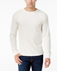 Club Room Men's Waffle Knit Thermal Shirt Only At Macy's Winter Ivory