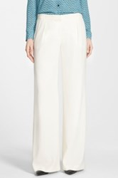 Halogen Pleat Front Wide Leg Pants White