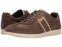 Ecco Indianapolis Sneaker Dark Clay Tarmac Men's Lace Up Casual Shoes Brown