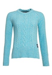 Superdry Cable Crew Jumper Light Blue
