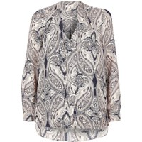 River Island Womens Pink Paisley Print 2 In 1 Blouse