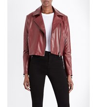 J Brand Fashion Adaire Leather Jacket Oxblood