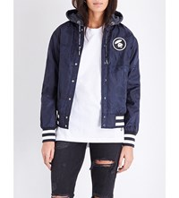 Aape By A Bathing Ape Reversible Shell And Denim Jacket Navy