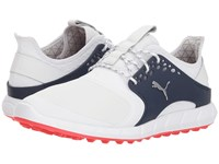 Puma Golf Ignite Power Sport Pro White Silver Peacoat Shoes