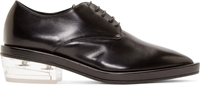 Simone Rocha Black Leather Clear Heel Pointed Derby Shoes