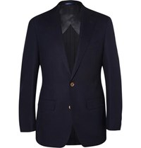 Thom Sweeney Navy Curzon Slim Fit Wool Blazer Navy
