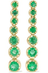 Jennifer Meyer 18 Karat Gold Emerald Earrings