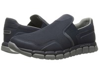 Skechers Skech Flex 2.0 Wentland Navy Gray Men's Slip On Shoes Blue