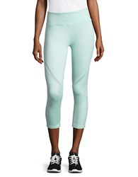 Nanette Lepore Mesh Accented Cropped Leggings Green