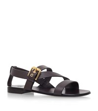 Giuseppe Zanotti Multi Strap Leather Sandal Male Brown