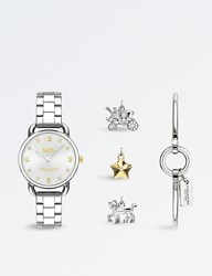 Coach 14502889 Delancey Stainless Steel And Silver Watch Set