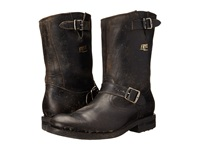 Frye Stone Engineer Black Polished Stonewash Men's Pull On Boots