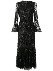 Needle And Thread Flared Cuff Embellished Gown 60