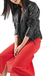 Topshop Women's Leather Moto Jacket