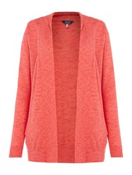 Joules Edge To Edge Cardigan With Pockets Coral