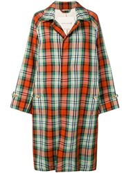 Mackintosh Checked Raincoat Multicolour
