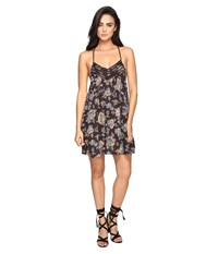 Brigitte Bailey Zanna Spaghetti Strap Printed Dress Charcoal Women's Dress Gray