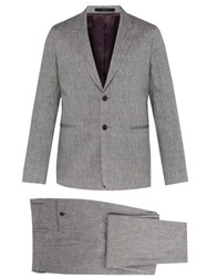Paul Smith Soho Tailored Fit Wool And Linen Blend Suit Grey