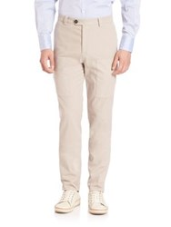 Brunello Cucinelli Para New Cargo Pocket Pants Stone