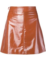 Arma Patent A Line Skirt Yellow And Orange