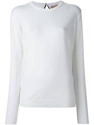 N 21 No21 Contrast Back Panel Knit Top White