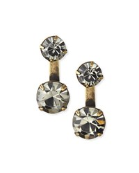 Auden Round Crystal Ear Jackets Black Diamond