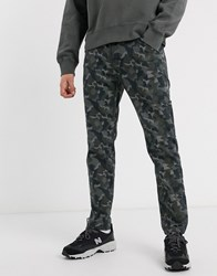 Levi's Youth Hi Ball Utility Straight Trousers Canvas In Black Camo Print