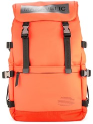 Makavelic Ludus Box Logo Backpack Yellow And Orange