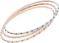 Chamak By Priya Kakkar Crystal Studded Thin Bangle Set Multi
