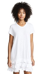Wilt Tee Dress With Lace Ruffle Trim White