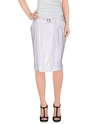 Tru Trussardi Skirts Knee Length Skirts Women White