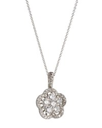 Neiman Marcus Diamond Flower Pendant Necklace