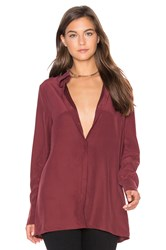 Ty Lr The Silk Nueva Shirt Burgundy