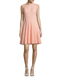 Calvin Klein Laser Cut Fit And Flare Dress Nectar