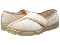 Foamtreads Jewel Champagne Velour Women's Slippers Beige